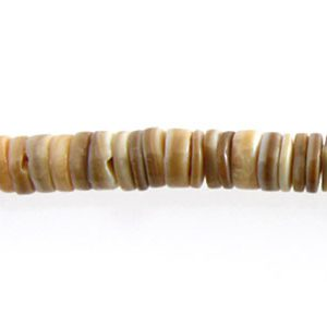 Voluta shell heishi 4-5mm wholesale beads