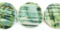 Green turbo flat round 20mm wholesale beads