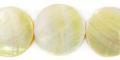 MOP flat round plain 20mm wholesale beads