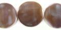 Purple cowrie flat round 20mm wholesale beads