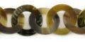 blacklip/grey horn 30mm linked rings wholesale