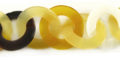 makabibi/yellow horn 30mm linked rings wholesale