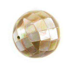 Brownlip round blocking beads 20mm wholesale