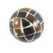 Tab shell round blocking beads 20mm wholesale