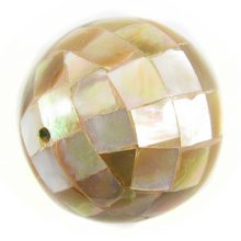 Brownlip round blocking beads 25mm wholesale beads