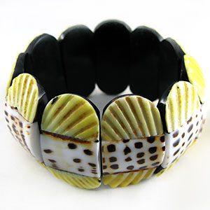 elastic pectin/leteratus bracelet-lime wholesale