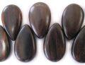 Tigerwood ebony wood side-drop wholesale beads