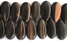 Tiger ebony drop-side wholesale beads
