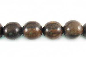 Tiger ebony graduated wood wholesale beads