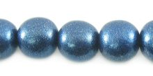 Metallic blue wood wholesale beads