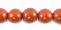 Metallic copper wooden 10mm bead