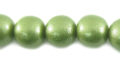 Metallic green wooden 10mm bead