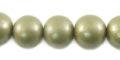 Metallic nude wooden 10mm bead