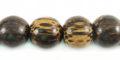 10mm round old palmwood bead