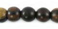 Tiger ebony 10mm round bead