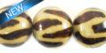 15mm animal print burt wooden bead