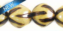 burnt wood round 2 wholesale beads