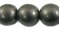 15mm metallic charcoal wooden bead