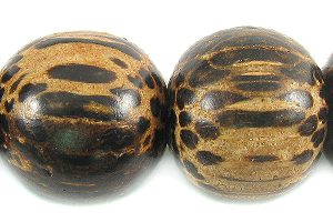 Old palmwood wooden round bead