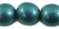 15mm wooden metallic turquoise bead