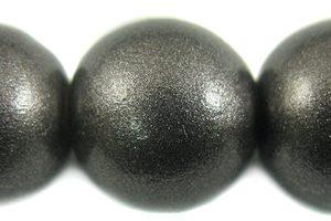 20mm metallic charcoal wooden bead