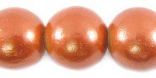 20mm metallic copper wooden bead