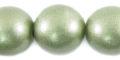 20mm metallica green wooden bead