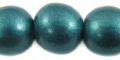 20mm wooden metallic turquoise bead