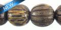 Old palmwood squash design 15mm bead