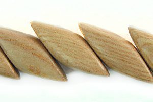 Rosewood diagonal cut nugget beads