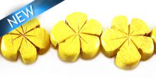 Nangka wooden flower 15mm bead