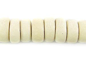 Whitewood pukalet 8x4mm bead