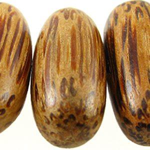 Palm-wood Football wholesale beads