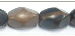 Tiger ebony 4-sided oval wholesale beads