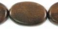 tiger ebony flat oval wholesale beads