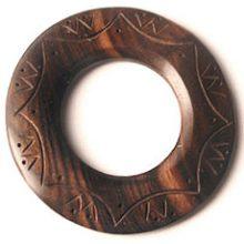Tiger ebony 60mm carved donut