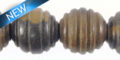 black ebony carved spiral round wholesale beads