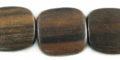 Tiger ebony flat square wholesale beads