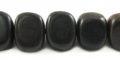 Wholesale Black ebony triangle nuggets beads