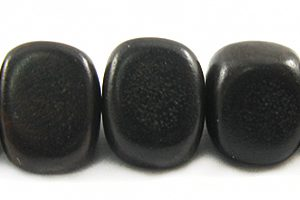 Wholesale Black ebony triangle nuggets beads