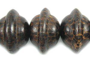 old palm wood round saturn design