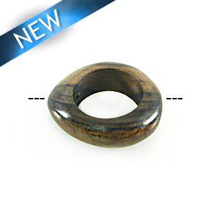 ebony irregular round 34mm w/ 20mm