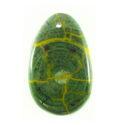 Hanbabalud wood inlay teardrop green