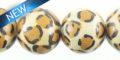 white-wood round leopard print 15mm