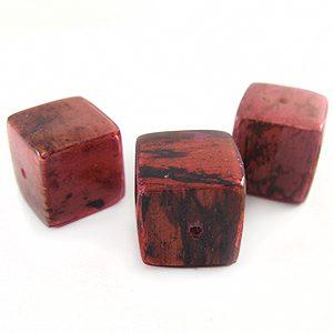 Coral cube wholesale banana bark beads
