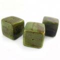 Green cube wholesale banana bark beads