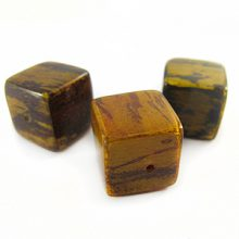 Yellow cube wholesale banana bark beads