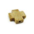 Tea-dyed bone cross 20mm wholesale beads