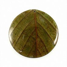 coco back round 62mm leaf inlay-green wholesale pendants