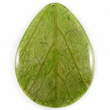 Coco back teardrop w/Cab-Caban leaf 43mm wholesale pendants